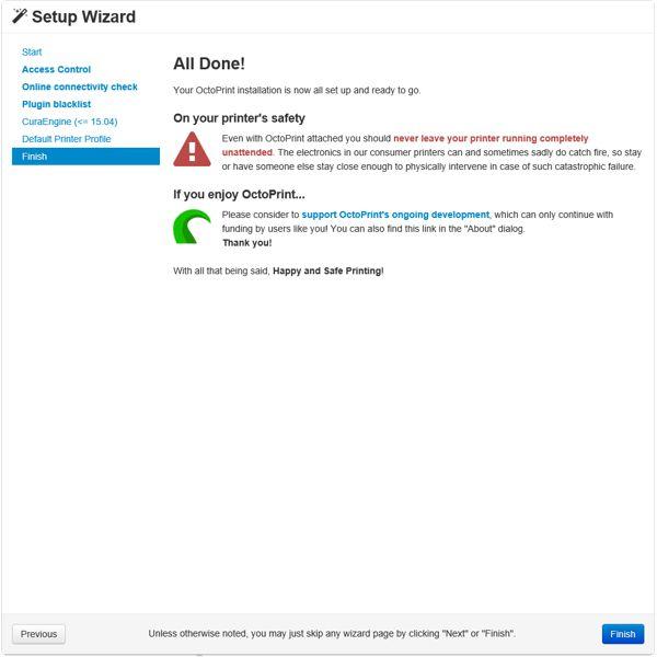 OctoPi 0 15 / OctoPrint (in Arbeit) - NetSecond net